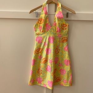 vintage lilly pulitzer halter dress